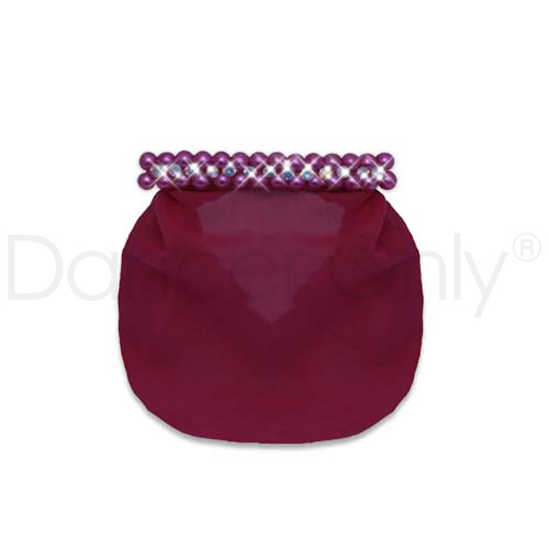 PRECIOUS PEARLS SNOOD-BURGUNDY