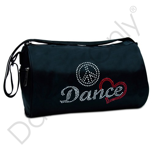 PEACE, LOVE & DANCE LARGE DUFFLE BAG